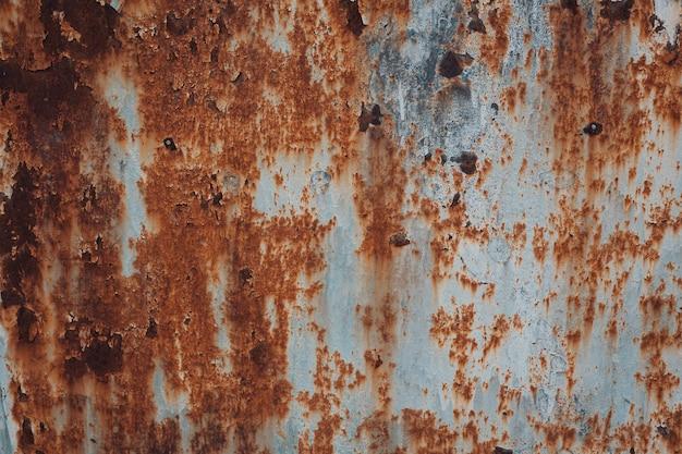 Roest en geoxideerde metalen achtergrond. industriële metalen textuur.