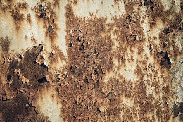 Roestig versleten metalen ijzeren stalen oppervlak. metalen textuur close-up