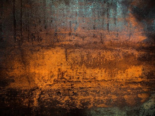 Roestige grunge gekrast ruwe getextureerde stalen plaat oppervlakte achtergrond.