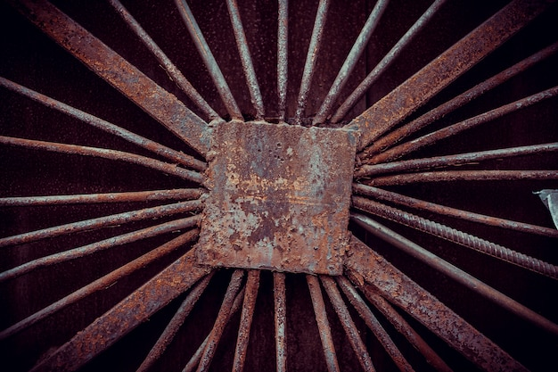 Roestige metaal gebarsten verf