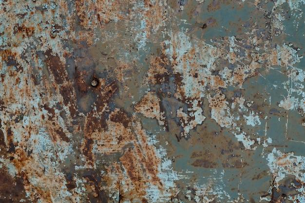 Roestige oude metaaltextuur met corrosie en verf