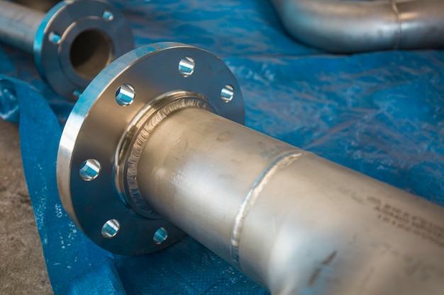 Roestvrijstalen leidingflensklep component gtaw tig gelaste verbinding drukvat fabricage fabric