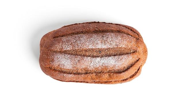 Roggebrood geïsoleerd op een witte achtergrond. hoge kwaliteit foto