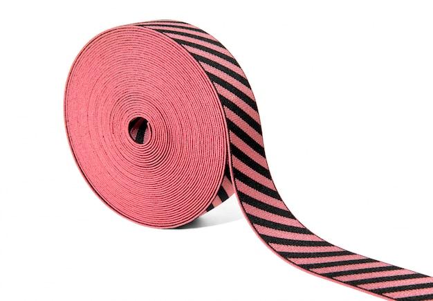 Rol decoratief elastisch lint in rood en zwart