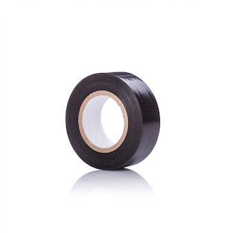 Rol nieuwe zwarte tape voor elektrisch.