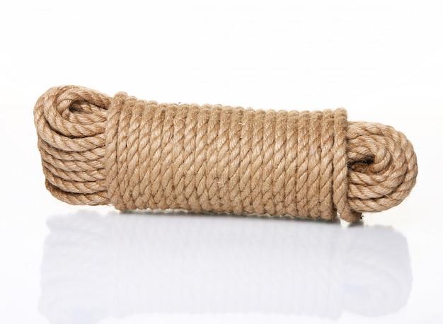 Rollen touw geïsoleerd