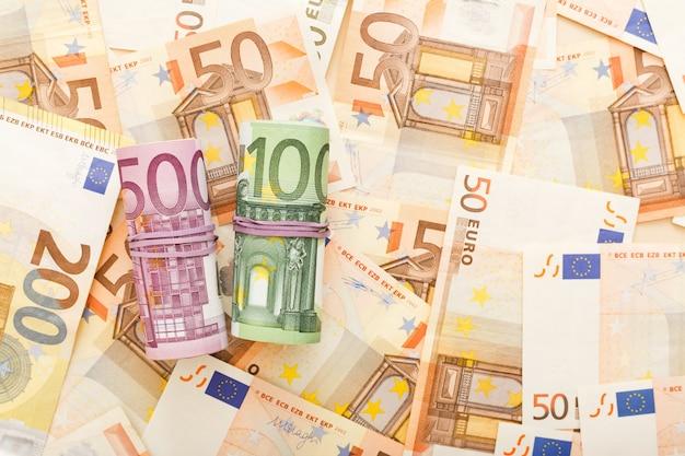 Rollen van eurobankbiljetten