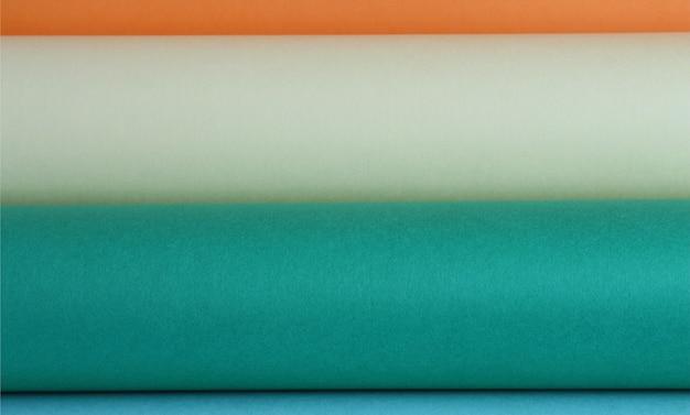 Rollen van gekleurd papier achtergrond