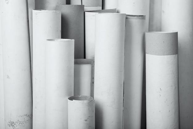 Rollen van oud papier achtergrondstructuur