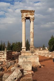Roman ruïnes in anjar, libanon
