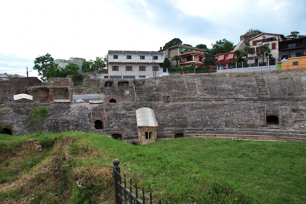 Roman ruïnes in durres, albanië