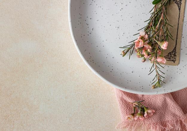 Romantisch, bruiloft of lentetafel