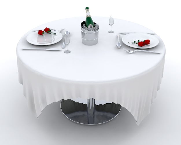 Romantisch diner instelling voor twee