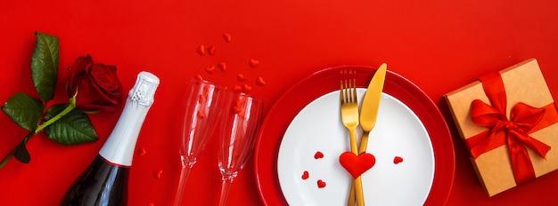 Romantisch diner voor valentijnsdag