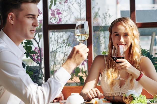 Romantisch diner Premium Foto