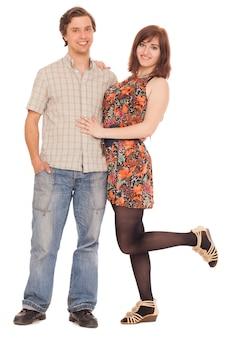 Romantisch kaukasisch jong paar