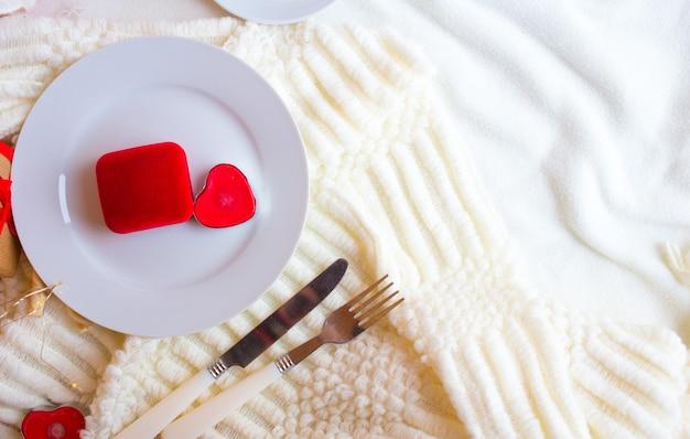 Romantisch valentijnsdiner
