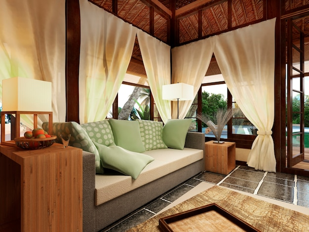 Romantische bungalow op het caribische eiland