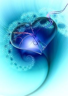 Romantische fractal hart speelse fractals liefde