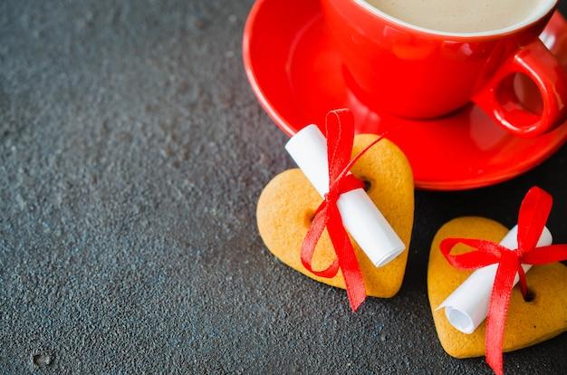 Romantische samenstelling voor valentijnsdag, verjaardag of moederdag.