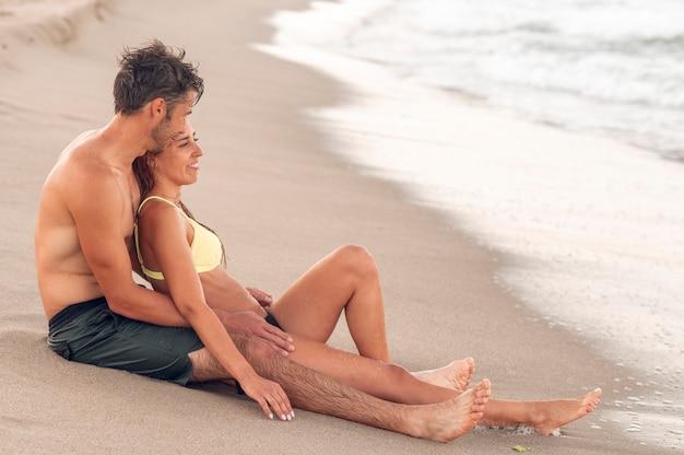 Romantische vakantie op zee.