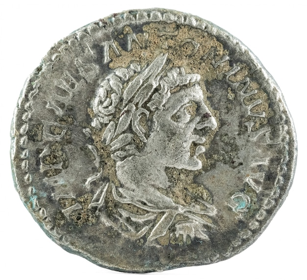 Romeinse denarius van de munt elagabalus