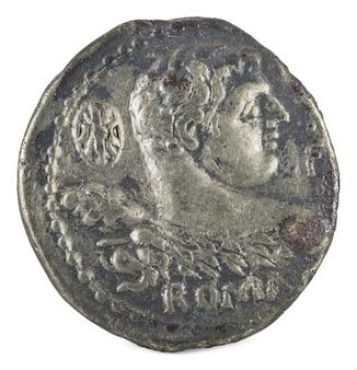 Romeinse republiek munt. oud-romeins zilver denarius van de familie cornelia.