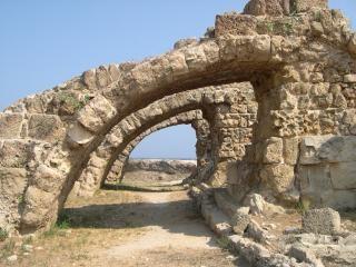 Romeinse ruïnes bij salamis, noord-cyprus