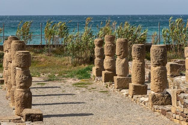 Romeinse ruïnes van baelo claudia, gelegen in de buurt van tarifa. andalucia. spanje.