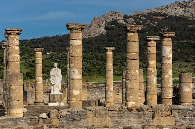 Romeinse ruïnes van baelo claudia, gelegen in de buurt van tarifa. cadiz spanje.