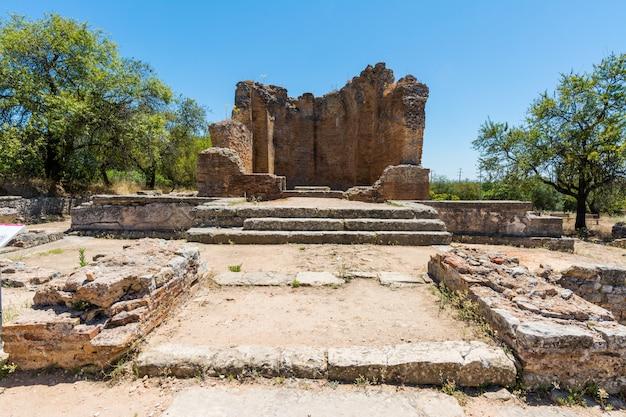 Romeinse ruïnes van milreu, estoi, algarve, portugal