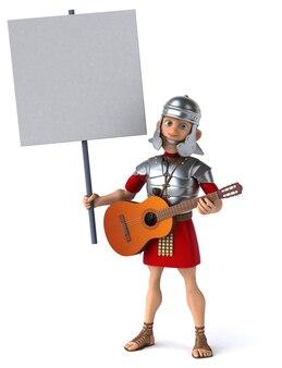 Romeinse soldaat - 3d illustratie