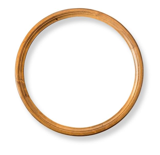Rond houten frame geïsoleerd