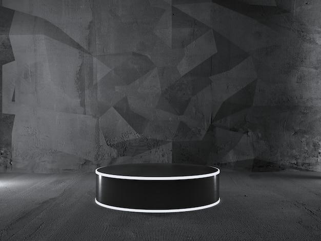 Rond podium, voetstuk of platform