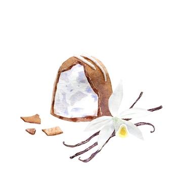 Ronde cacaopraline met vanille