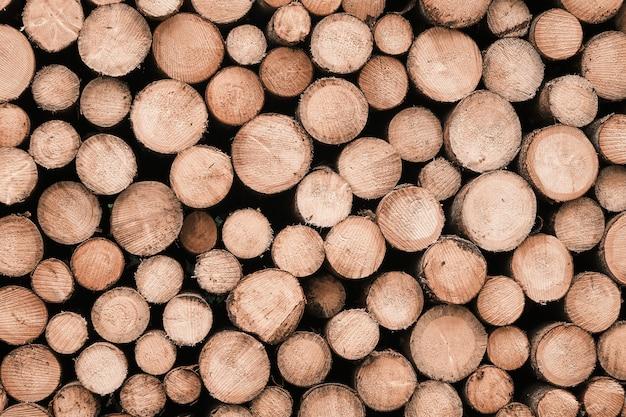 Ronde houten structuur