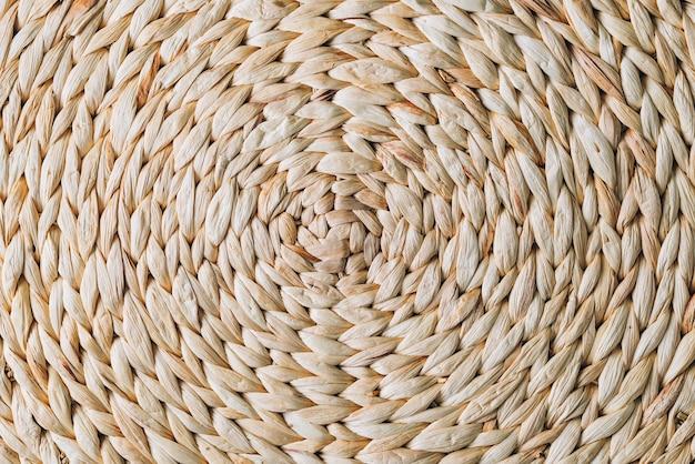 Ronde patroon van rieten rotan, handgemaakte textuur achtergrond