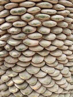 Ronde soortgelijke stenen patroon achtergrond