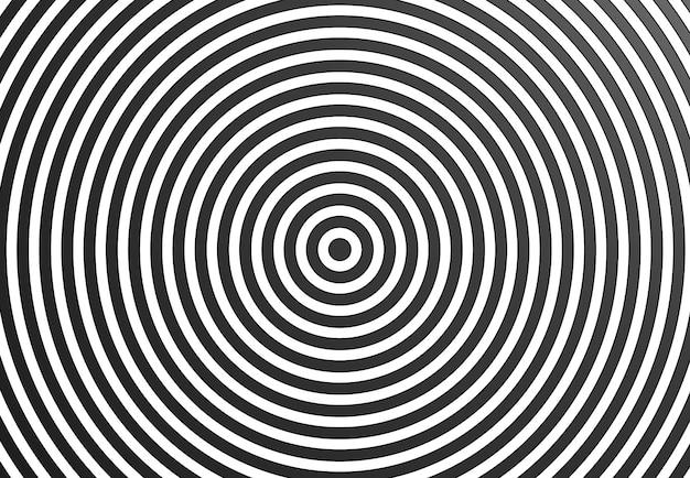 Ronde strepen abstracte achtergrond zwarte en witte lijnen