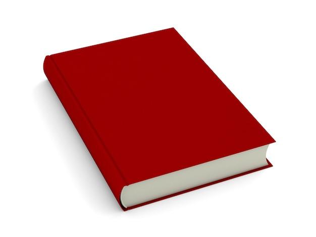 Rood boek geïsoleerd op wit