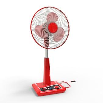 Rood elektrisch ventilatormodel met weergave van bedieningsknoppen