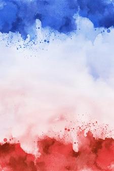 Rood en blauw 4 juli papier, aquarel digitaal papier