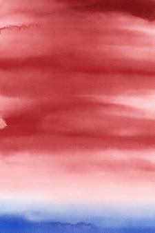 Rood en blauw aquarel digitaal papier, patriottische achtergrond