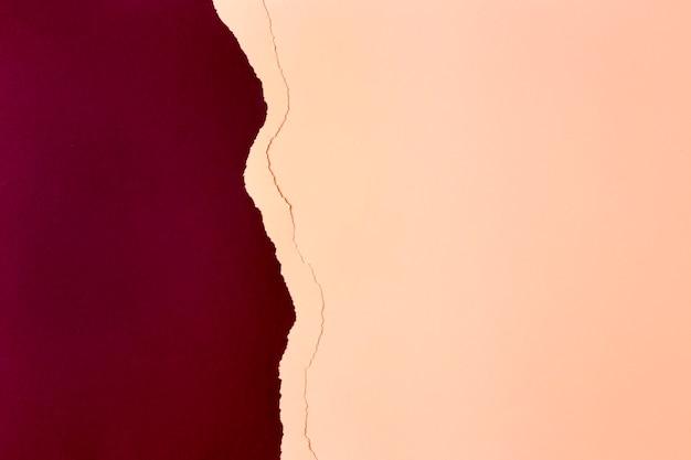 Rood en perzik papier achtergrondontwerp