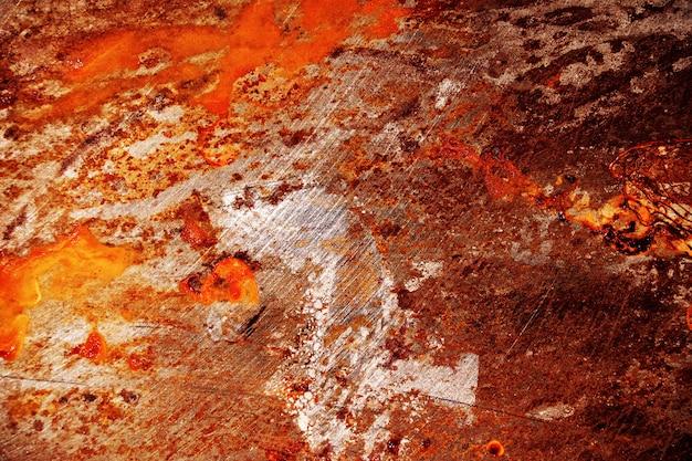 Rood gekrast metaal grunge oppervlak