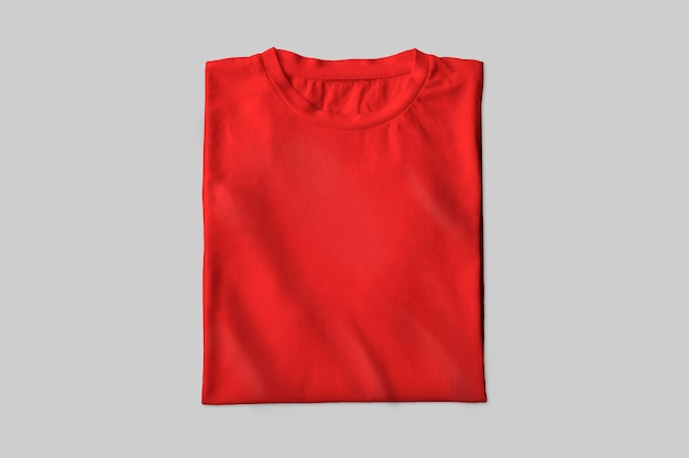 Rood gevouwen t-shirt