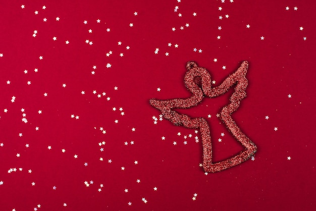 Rood glanzend symbool van engel