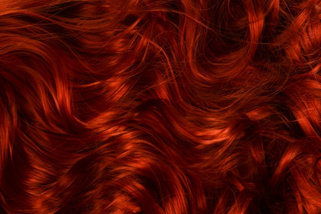 Rood haar achtergrond. krullend rood haar.