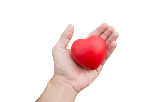 Rood hart bal