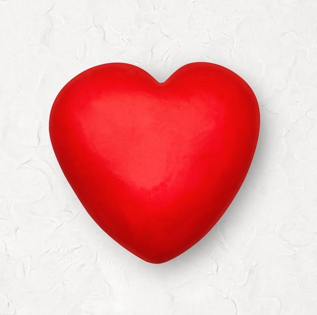 Rood hart plasticine klei diy element